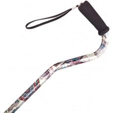 Adjustable Offset cane - Foam grip (White art)