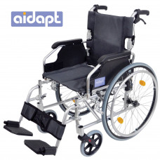 Deluxe Lightweight Self Propelled Aluminium Wheelchair (Silver)