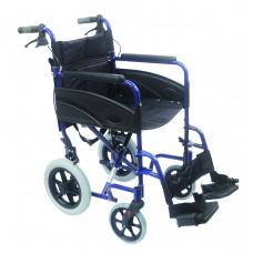 Compact Transport Aluminium Wheelchair (Blue)