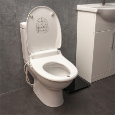 E'Loo Toilet Seat with Bidet Cleaning featuring a Warm Air Dryer, Night Light and Heated Seat Comfort Function (Oval Seat)