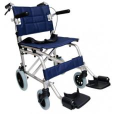 輕攜式摺合輪椅 (寶藍色)