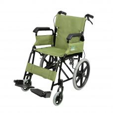 摺疊式黑色支架便攜輪椅 (可升起扶手)