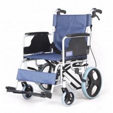 鋁合金輪椅(椅背可摺疊)(藍色)