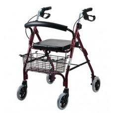鋁合金架摺合式助行車(紫红色)