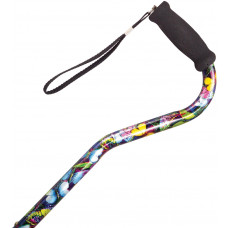 海綿軟墊手柄鋁合金拐杖 (色彩藝術)