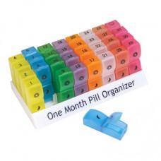 彩色藥丸儲存器(一個月)