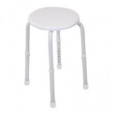 可調高圓型沐浴椅(白色)