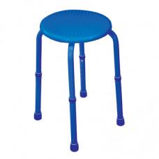 可調高圓型沐浴椅(藍色)