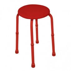 可調高圓型沐浴椅(紅色)