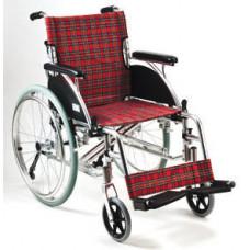 豪華鋁合金便攜輪椅(紅色格)
