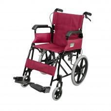 摺疊式黑色支架便攜輪椅 (可升起扶手) (紅色)