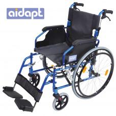 豪華輕型自推進式鋁合金輪椅 (藍色)