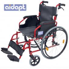 豪華輕型自推進式鋁合金輪椅 (紅色)