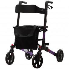 豪華折疊平面助行車 - 紫色