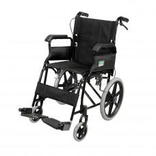 摺疊式黑色支架便攜輪椅 (可升起扶手) (黑色)