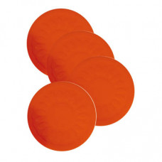 防滑矽膠杯墊 (4個裝) - 紅色
