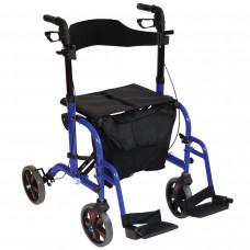 豪華折疊4輪式座椅助行車
