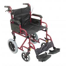 輕巧式鋁合金輪椅(紅色)