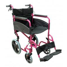 輕巧式鋁合金輪椅 (粉色)