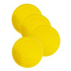 防滑矽膠杯墊 (4個裝) - 黃色