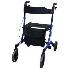 豪華超輕折疊4輪式助行車 - 藍色