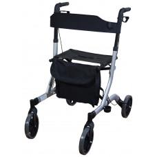 豪華超輕折疊4輪式助行車 - 灰色