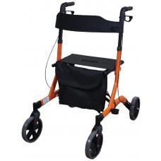 豪華超輕折疊4輪式助行車 - 橙色