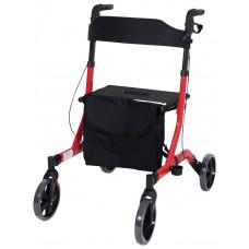 豪華超輕折疊4輪式助行車 - 紅色