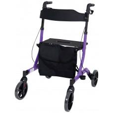 豪华超轻折叠4轮式助行车 - 紫色