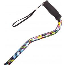 海绵软垫手柄铝合金拐杖 (色彩艺术)