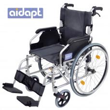 豪华轻型自推进式铝合金轮椅 (银色)