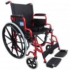 Aidapt 豪华自推进式钢制轮椅(红色)- 预订