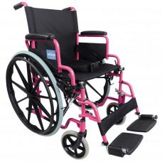 Aidapt 豪华自推进式钢制轮椅(粉红色)- 预订