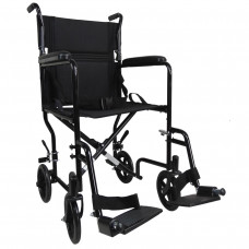Aidapt 轻巧式钢制轮椅 (黑色)
