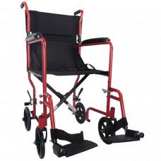 Aidapt 轻巧式钢制轮椅 (红色)