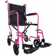 Aidapt 轻巧式钢制轮椅 (粉红色)